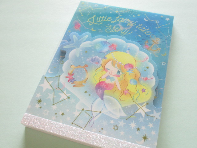 Photo1: Kawaii Cute Large Memo Pad Little Fairy Tale Q-LiA *Little Mermaid (34386)