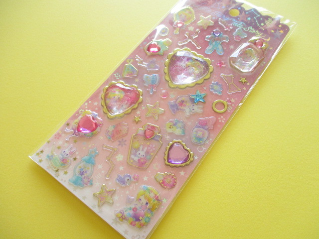 Photo1: Kawaii Cute Stone Stickers Sheet Little Fairy Tale Q-LiA *Little Rapunzel (34409)