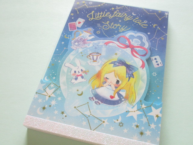 Photo1: Kawaii Cute Large Memo Pad Little Fairy Tale Q-LiA *Alice (34383)