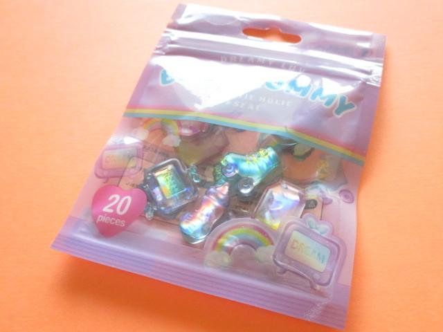 Photo1: Kawaii Cute Sweet Holic Stickers Sack Crux *Baby Gummy (05855)