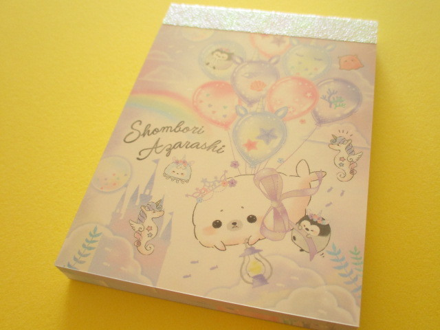 Photo1: Kawaii Cute Mini Memo Pad Crux *Shombori Azarashi (55316)