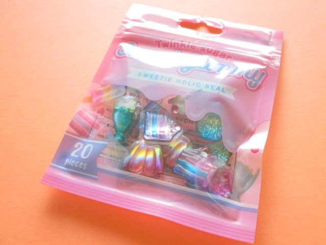 Photo1: Kawaii Cute Sweet Holic Stickers Sack Crux *Sweet Gummy (05854)