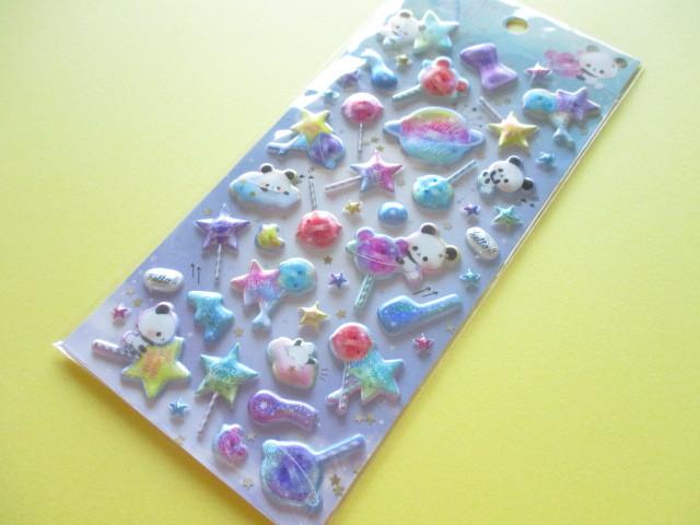 Photo1: Kawaii Cute Holokira Stickers Sheet Q-LiA *Twinkle Star Light (31119)