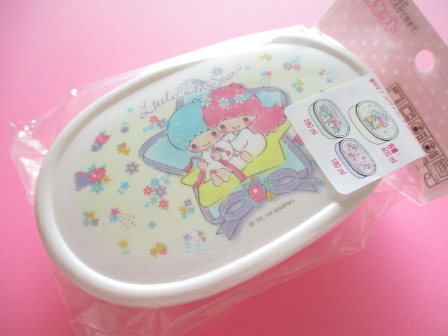 Photo1: 3 pcs Kawaii Cute Bento Lunch Box Container Set Sanrio Original *Little Twin Stars (26999-9)