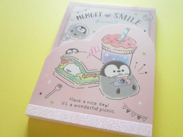 Photo1: Kawaii Cute Large Memo Pad Penguin Memory Q-LiA *Picnic  (34473)