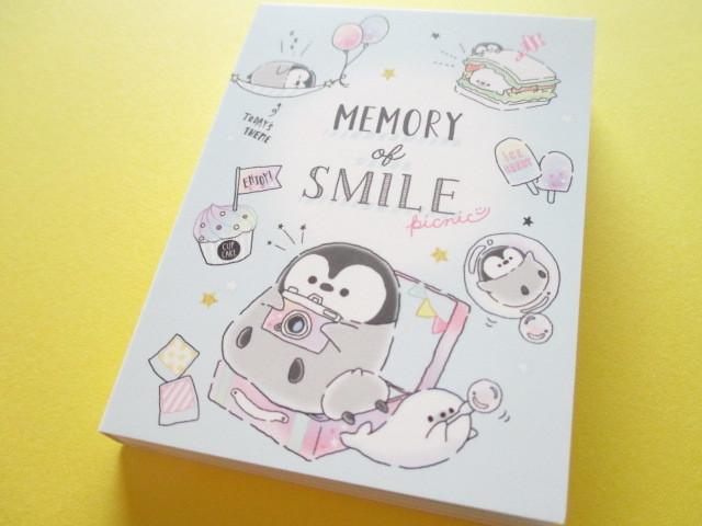 Photo1:  Kawaii Cute Mini Memo Pad Penguin Memory Q-LiA *Picnic (34470)