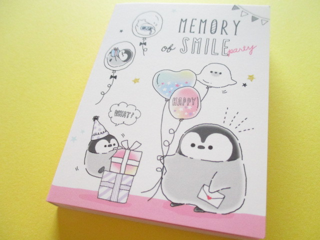 Photo1: Kawaii Cute Mini Memo Pad Penguin Memory Q-LiA *Party (34471)