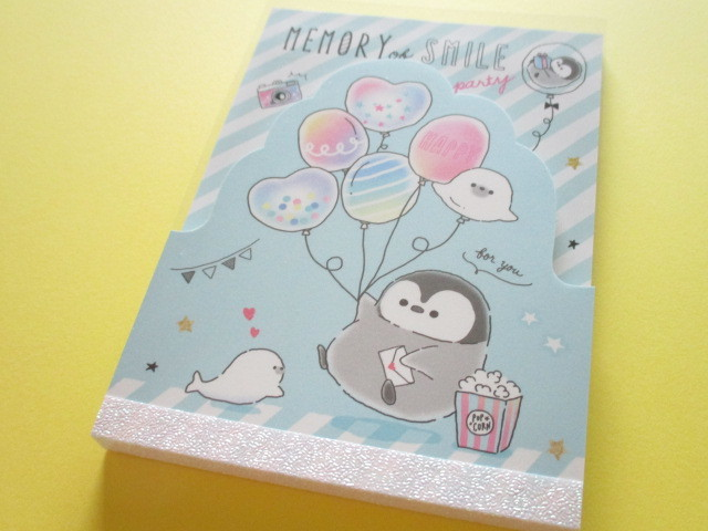 Photo1: Kawaii Cute Large Memo Pad Penguin Memory Q-LiA *Party (34474)