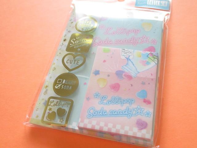 Photo1: Kawaii Cute Mini Letter Set Crux *Soda Candy (09090)