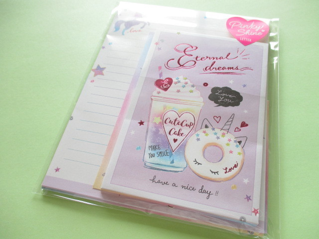 Photo1: Kawaii Cute Pinky Shine Letter Set Q-LiA *Eternal dreams (30234)