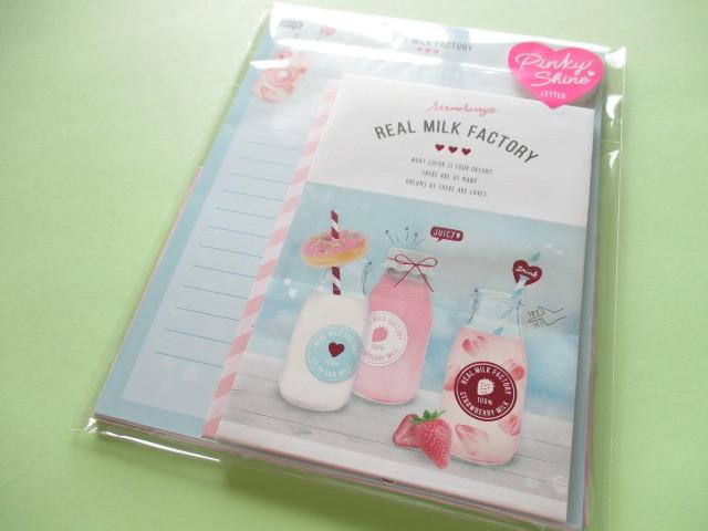 Photo1: Kawaii Cute Pinky Shine Letter Set Q-LiA *Real Milk Factory (30233)