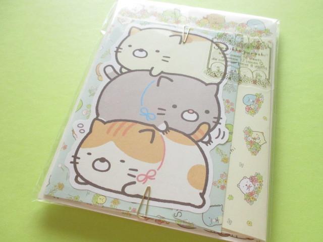 Photo1: Kawaii Cute Regular Letter Set Sumikkogurashi San-x *ねこのきょうだいにであいました (LH66001)