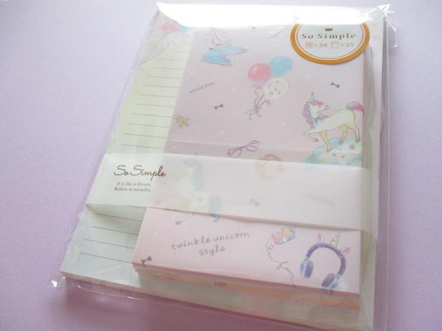 Photo1: Kawaii Cute Letter Set Crux *Twinkle Unicorn (09108)