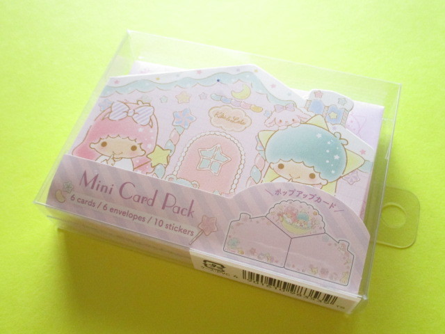 Photo1: Kawaii Cute Mini Card Pack Set Sanrio Original *Little Twin Stars (98353-5)