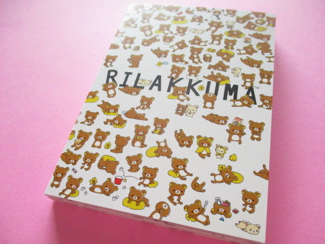 Photo1: Kawaii Cute Large Memo Pad Rilakkuma San-x *Puchipuchi Rilakkuma (MW47301)