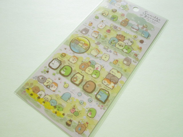 Photo1: Kawaii Cute Sticker Sheet Sumikkogurashi San-x *ねこのきょうだいにであいました (SE37202)