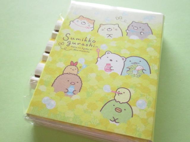 Photo1: Kawaii Cute Patapata Mini Memo Pad Set Sumikkogurashi San-x *ねこのきょうだいにであいました (MW46201)
