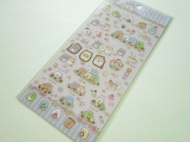 Photo1: Kawaii Cute Sticker Sheet Sumikkogurashi San-x *ねこのきょうだいにであいました (SE37201)