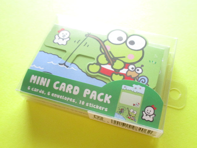 Photo1: Kawaii Cute Mini Card Pack Set Sanrio Original *Kerokerokeroppi (98406-0)