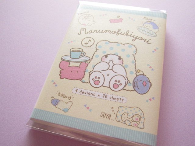 Photo1: Kawaii Cute Patapata Medium Memo Pad Set Sanrio Original *Marumofubiyori のんびり (39215-4)