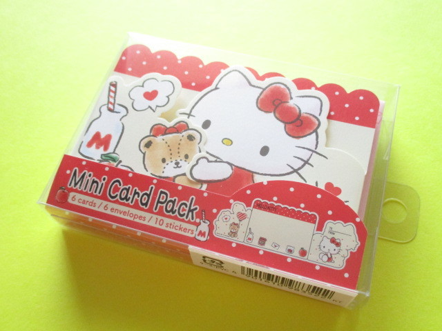 Photo1: Kawaii Cute Mini Card Pack Set Sanrio Original *Hello Kitty (98352-7)