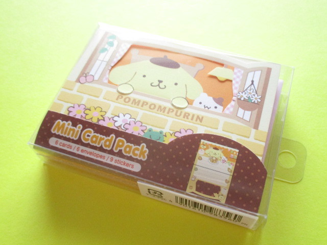 Photo1: Kawaii Cute Mini Card Pack Set Sanrio Original *POMPOMPURIN (98356-0)
