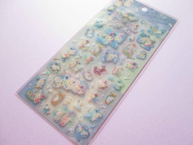 Photo1: Kawaii Cute Sticker Sheet Sentimental Circus San-x *The Blue Bird of Memories (SE37701)