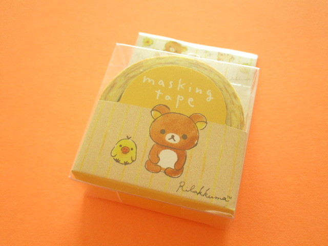 Photo1: Kawaii Cute Mini Masking Tape/Deco Tape Sticker San-x *Rilakkuma (SE37404)
