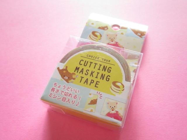 Photo1: Kawaii Cute Cutting Mini Masking Tape/Deco Tape Sticker San-x *Rilakkuma (SE37502)