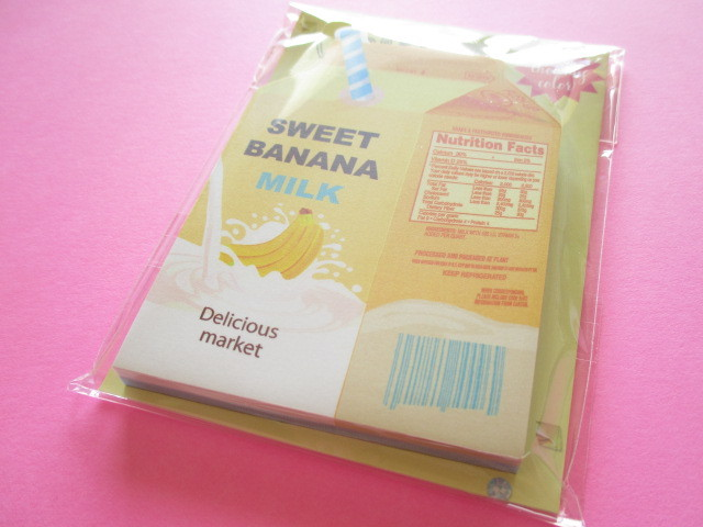 Photo1: Kawaii Cute choo my color Die-Cut Medium Memo Pad Q-LiA *Banana Milk (34558)
