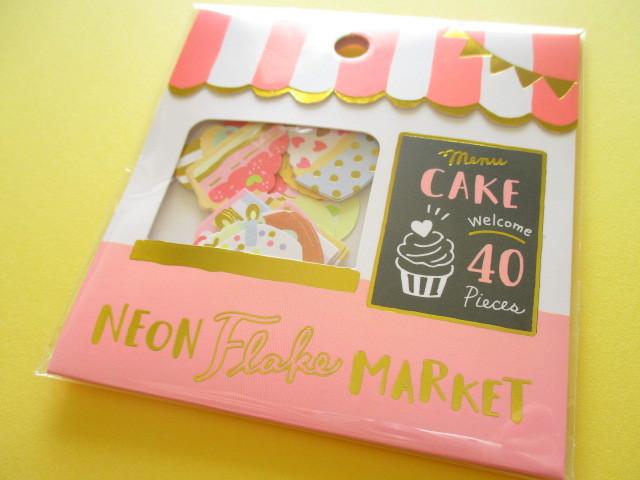 Photo1: Kawaii Cute Sticker Neon Flake Market Mind Wave *Cake Shop (79465)