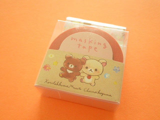 Photo1: Kawaii Cute Mini Masking Tape/Deco Tape Sticker San-x *Rilakkuma (SE37403)