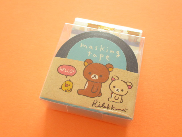 Photo1: Kawaii Cute Mini Masking Tape/Deco Tape Sticker San-x *Rilakkuma (SE37402)