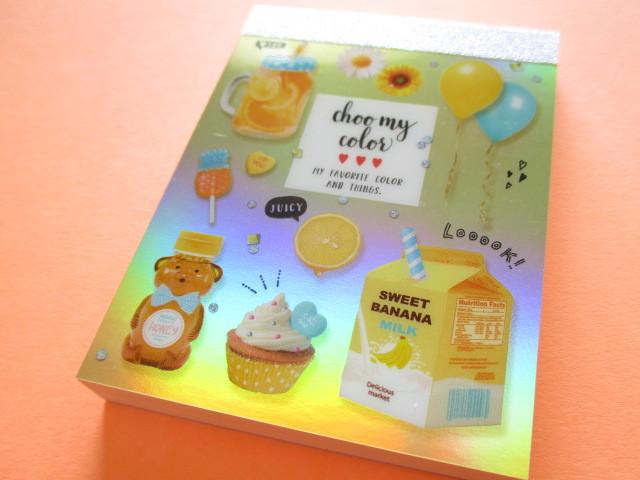 Photo1: Kawaii Cute Mini Memo Pad Q-LiA *Something Yellow (34553)