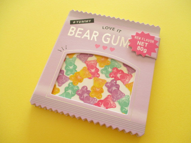 Photo1: Kawaii Cute Delicafe Collection Medium Memo Pad Q-LiA *Bear Gummy (30328)