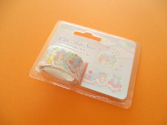 Photo1: Kawaii Cute Masking Tape Stickers Sanrio Original *Little Twin Stars (70217-0)