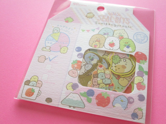 Photo1: Seal Bits Kawaii Cute Sticker Flakes Sack San-x *Sumikkogurashi (SE37906)