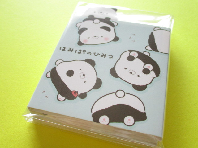 Photo1: Kawaii Cute Patapata Mini Memo Pad Pad Hamipa San-x *ぱんだ、はみでました。(MW48201)
