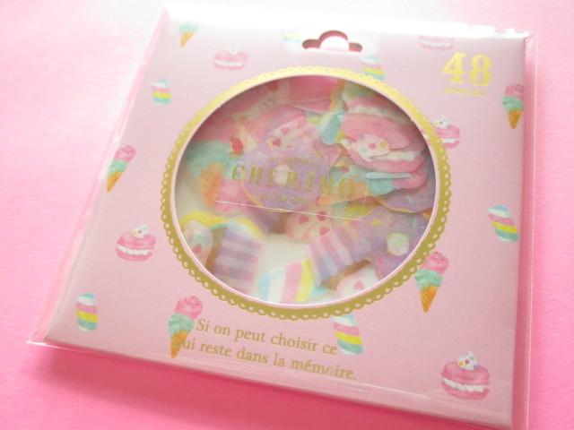 Photo1: Cherimo Sticker Flakes Sack Q-LiA *Sweets (31182)