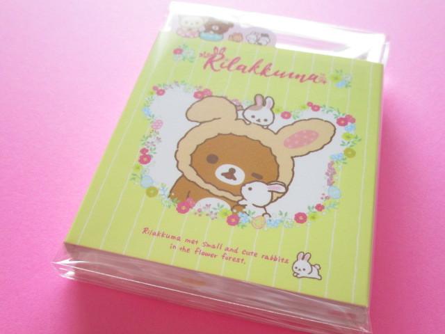 Photo1: Kawaii Cute Patapata Mini Memo Pad San-x *Rilakkuma met Small and Cute Rabbits in the Flower Forest (MW46801)