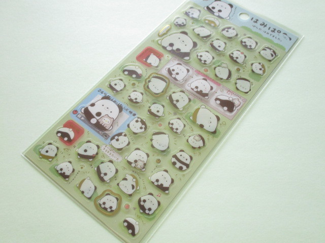 Photo1: Kawaii Cute Sticker Sheet Hamipa San-x *ぱんだ、はみでました。(SE37801)