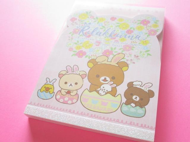 Photo1: Kawaii Cute Large Memo Pad San-x *Rilakkuma met Small and Cute Rabbits in the Flower Forest (MW46601)