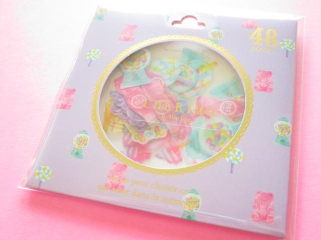 Photo1: Cherimo Sticker Flakes Sack Q-LiA *Pop Sweets (31184)