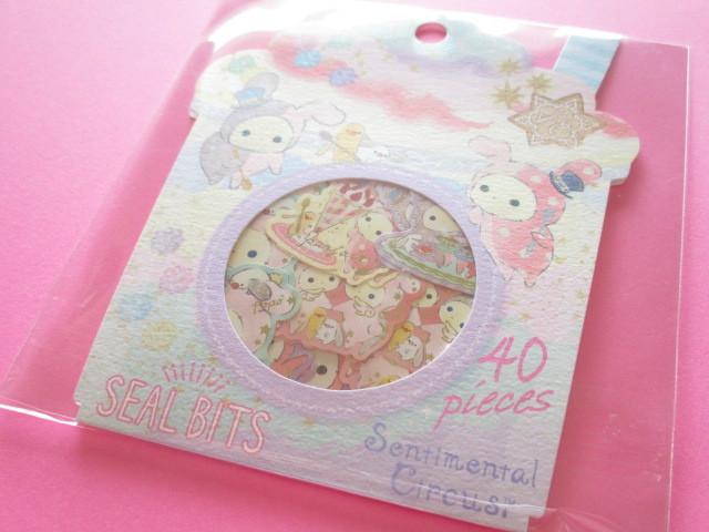 Photo1: Seal Bits Kawaii Cute Sticker Flakes Sack San-x *Sentimental Circus (SE37907)