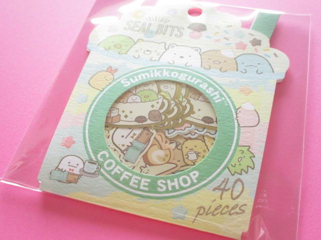 Photo1: Seal Bits Kawaii Cute Sticker Flakes Sack San-x *Sumikkogurashi (SE37905)