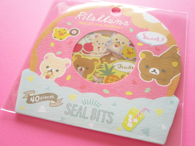 Photo1: Seal Bits Kawaii Cute Sticker Flakes Sack San-x *Rilakkuma (SE37902)