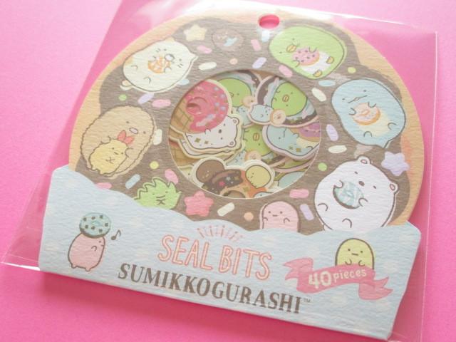 Photo1: Seal Bits Kawaii Cute Sticker Flakes Sack San-x *Sumikkogurashi (SE37904)
