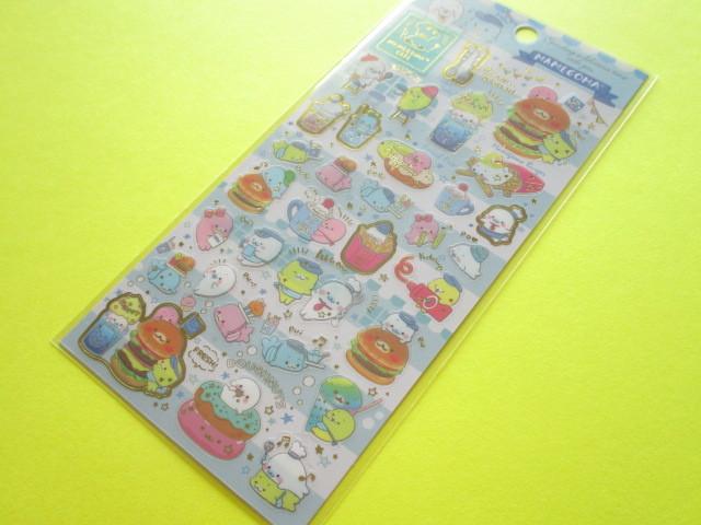 Photo1: Kawaii Cute Sticker Sheet San-x Mamegoma *Mamegoma Cafe (SE38002)