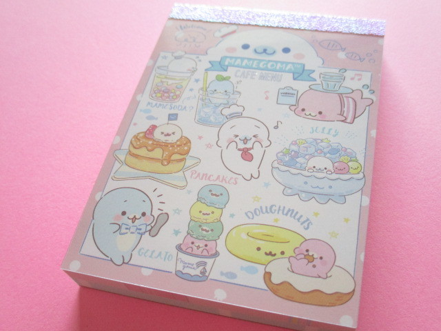 Photo1: Kawaii Cute Mini Memo Pad San-x Mamegoma *Mamegoma Cafe (MW48301-2)