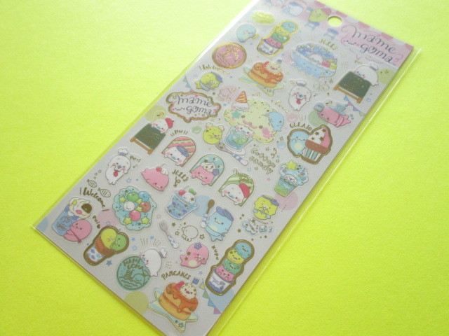Photo1: Kawaii Cute Sticker Sheet San-x Mamegoma *Mamegoma Cafe (SE38001)